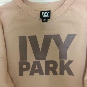 Ivy Park pink crop sweatshirt